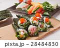 手巻き寿司 海苔巻き 寿司の写真 28484830