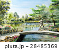 北陸観光 金沢 兼六園スケッチ画 28485369