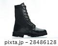 black leather combat boot 28486128