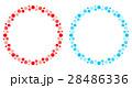 水玉 ドット フレームのイラスト 28486336