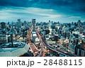 夜景 都会 ビル群の写真 28488115