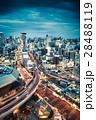夜景 都会 ビル群の写真 28488119