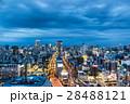 夜景 都会 ビル群の写真 28488121