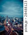 夜景 都会 ビル群の写真 28488123