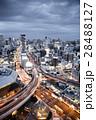 夜景 都会 ビル群の写真 28488127