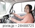 運転席の若い女性 28488725