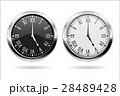 時計 時計の文字盤 ホワイトのイラスト 28489428
