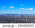 富士山 晴れ 都会の写真 28489503
