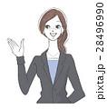 女性 ol 笑顔のイラスト 28496990