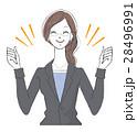 女性 ol スーツのイラスト 28496991