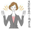 女性 ol 笑顔のイラスト 28497054