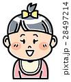 人物 女の子 赤ちゃんのイラスト 28497214