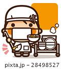 小学生 女の子 給食のイラスト 28498527