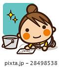 小学生 女の子 掃除当番のイラスト 28498538