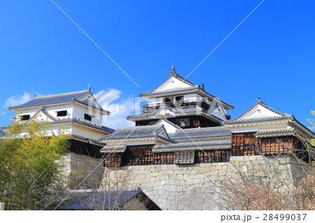 本丸から見た松山城 28499037