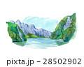 湖 山脈 景色のイラスト 28502902