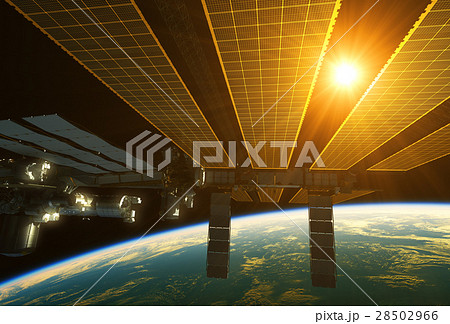 International Space Station And Sun Above The 28502966