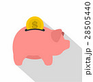 Pig money box icon, flat style 28505440