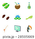 Holiday in Brazil icons set, cartoon style 28505669