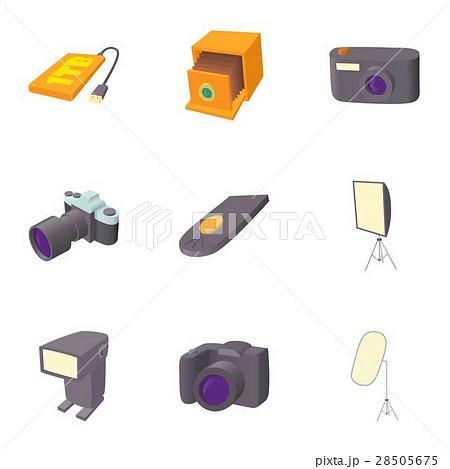 Photo icons set, cartoon styleのイラスト素材 [28505675] - PIXTA