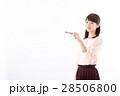 若い女性、鍵、キー 28506800