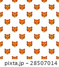 Tiger head pattern, cartoon style 28507014