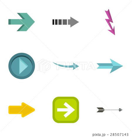 Kind of arrow icons set, flat style 28507143