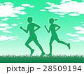 ジョギング ランニング 走るのイラスト 28509194
