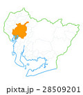 名古屋市と愛知県地図 28509201