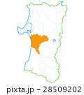 秋田市と秋田県地図 28509202