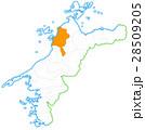 松山市と愛媛県地図 28509205