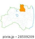 福島市と福島県地図 28509209