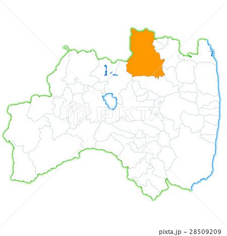 福島市と福島県地図のイラスト素材 28509209 Pixta