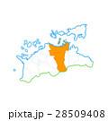 高松市と香川県地図 28509408