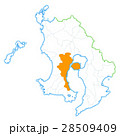 鹿児島市と鹿児島県地図 28509409