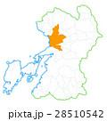 熊本市と熊本県地図 28510542