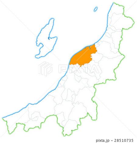 新潟市と新潟県地図のイラスト素材 28510735 Pixta