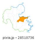大分市と大分県地図 28510736