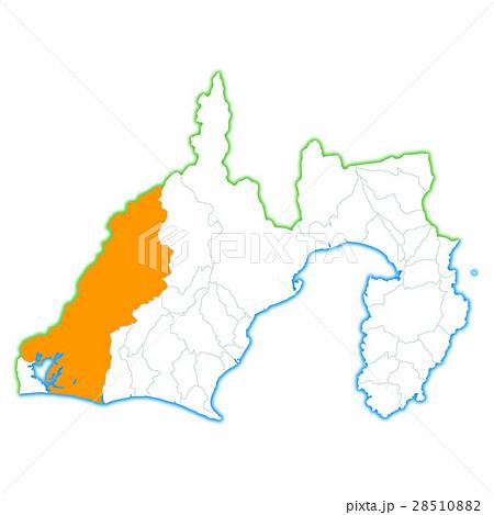 浜松市と静岡県地図 28510882