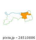 鳥取市と鳥取県地図 28510886