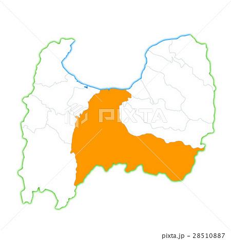 富山市と富山県地図のイラスト素材 28510887 Pixta