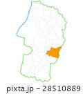 山形市と山形県地図 28510889