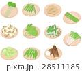 春野菜セット <お野菜とざる> 28511185