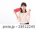 若い女性、お財布、ガッツポーズ 28512245