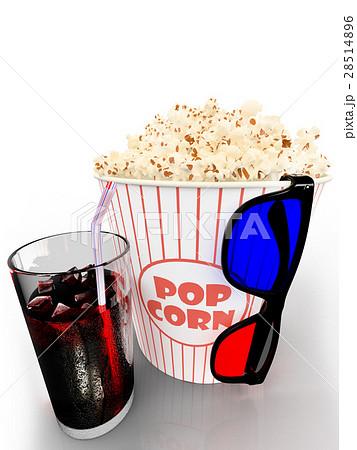 Popcorn and fast food drink. 3Drenderingのイラスト素材 [28514896] - PIXTA