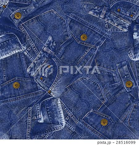 デニム素材パッチワークのイラスト素材 28516099 Pixta
