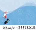 背景素材 金魚 波紋のイラスト 28518015