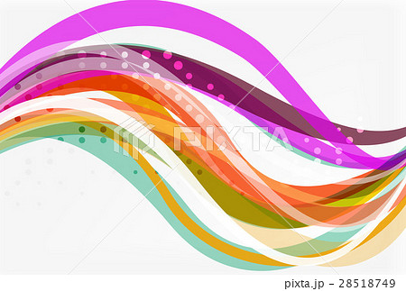 Vector color wave lines with dotted effect onのイラスト素材 [28518749] - PIXTA