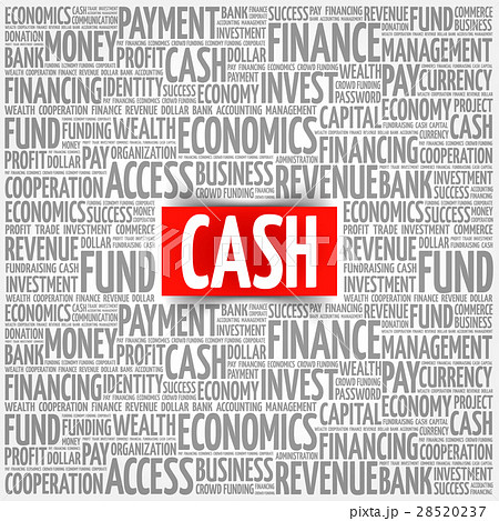 cash word cloudのイラスト素材 28520237 pixta