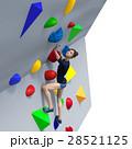 ボルダリングイメージ perming3DCGイラスト素材 28521125